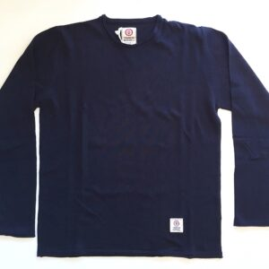 KNM034 Knitwear Cotton Round Neck Long - Navy