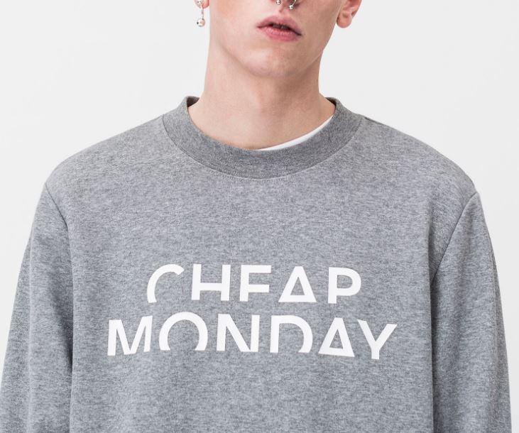 Cheap Monday Worth Sweat Spliced Cheap Felpa Uomo