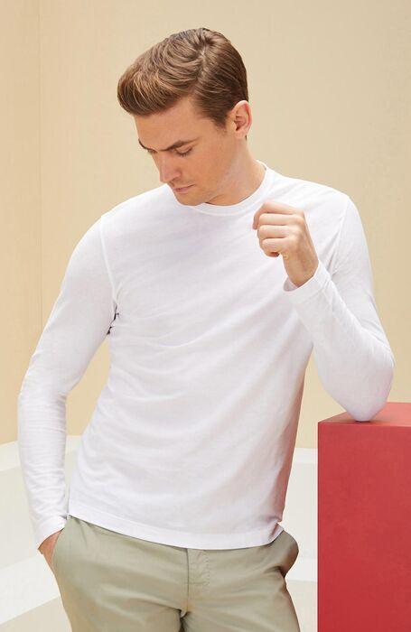 t-shirt manica lunga bianco